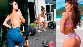 Morocha deslumbra con sus topless, ejercicios y fotos al natural