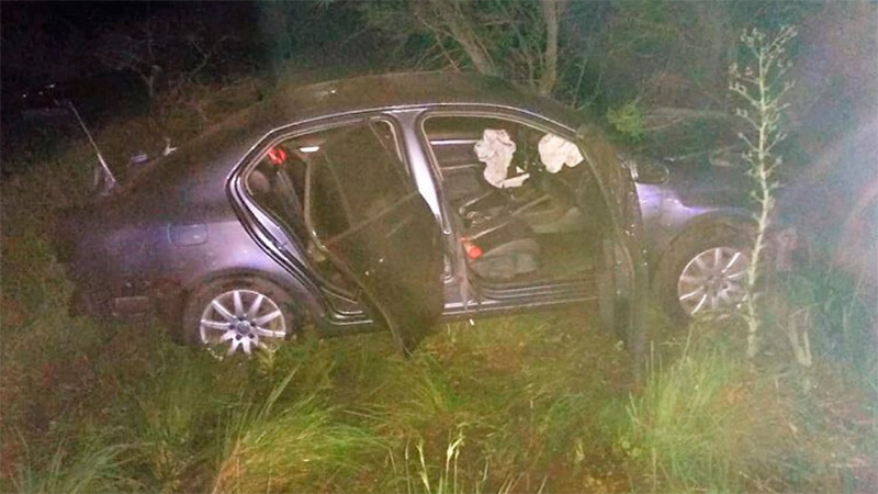 Así quedó el VW Vento tras el impacto.