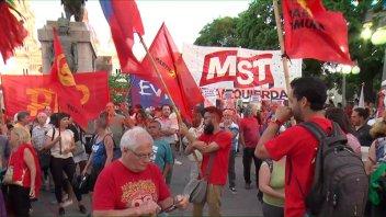 En Paraná se manifestaron en apoyo a Evo Morales