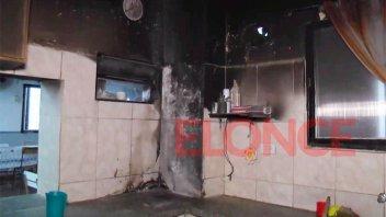 Principio de incendio en una escuela:
