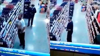Videos: Ladrón de vinos quedó filmado y lo detuvieron