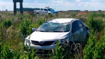 Automovilista despistó y volcó mientras viajaba por la ruta