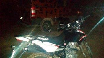 Intentó atropellar a policías con una moto robada en Paraná