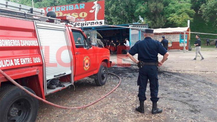 Desalojo de carribar: Hubo quema de cubiertas y amenaza con garrafas