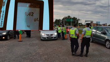Detectaron 62 conductores alcoholizados en la ruta 168 el lunes a la mañana
