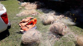 Sacaron del río Uruguay 1.200 metros de trasmallo: Pescaban especies en veda