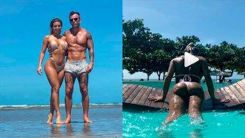 Sol Pérez, entre las fotos con su novio y la costumbre de mostrarse de espaldas
