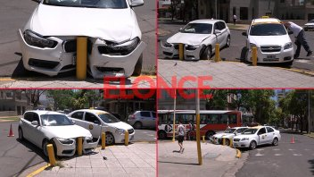 Fotos: Un BMW y un taxi chocaron en