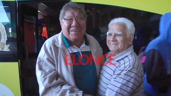 Dos amigos de la infancia se reencontraron en Paraná tras 60 años sin verse