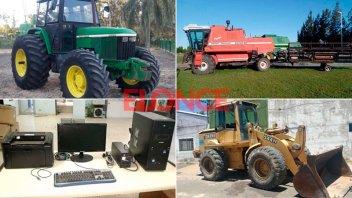 Gran remate de vehículos, maquinarias viales, agrícolas y herramientas: Fotos