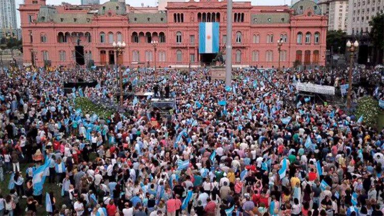 Comenzó la concentración para el acto de despedida de Mauricio Macri
