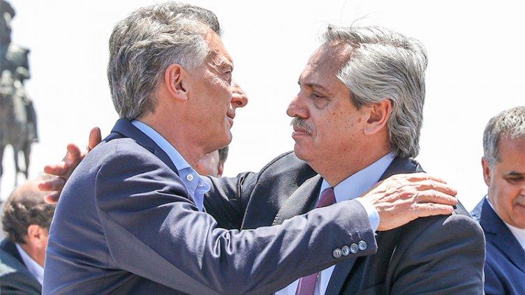 Histórica misa en Luján: El abrazo de Fernández y Macri en el saludo de la paz