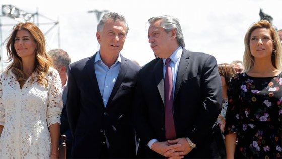 Macri y Fernández, juntos en la misa