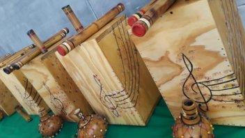 En la UP 1 fabricaron instrumentos y los donaron a cinco escuelas y al penal 6