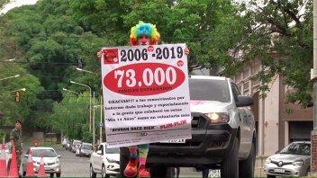 Plim Plim y su enorme tarea solidaria: llegó a 73.000 pañales en Once por Todos
