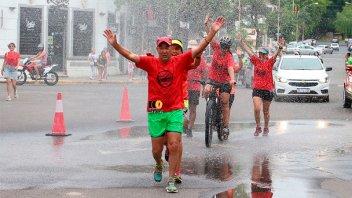 Redobló el desafío: Corrió 118 kilómetros para unirse a Once por Todos