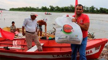 La solidaridad por el río: Así llegaron las donaciones desde Puerto Sánchez
