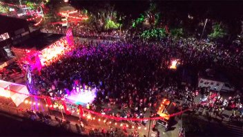 Con música y algarabía se vivieron las once horas solidarias de Once por Todos