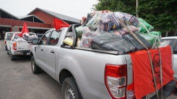Imágenes: Así se vivió la tradicional caravana solidaria de Once por Todos