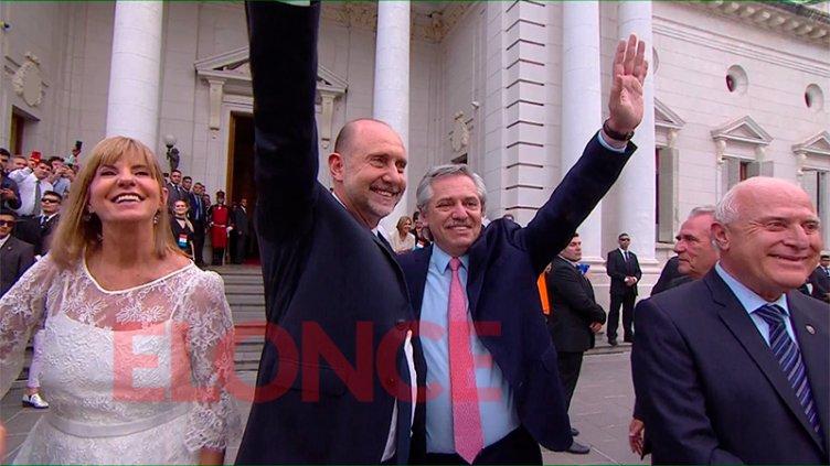 Fernández participa del acto de asunción de Perotti como gobernador de Santa Fe