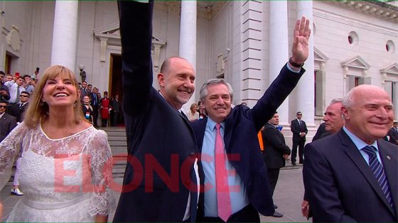 Fernández participó del acto de asunción de Perotti como gobernador de Santa Fe