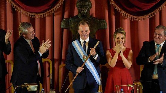 Con la presencia de Fernández, Bordet juró un nuevo mandato como gobernador