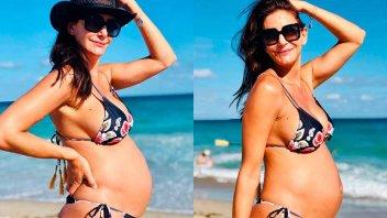 Luciana Aymar mostró su panza de embarazada