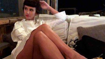 La provocativa foto de Griselda Siciliani: Tuvo que tapar su parte más íntima
