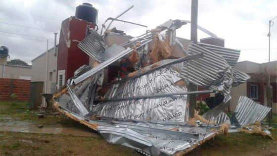Imágenes: El temporal ocasionó anegamientos y destrozos en Concordia