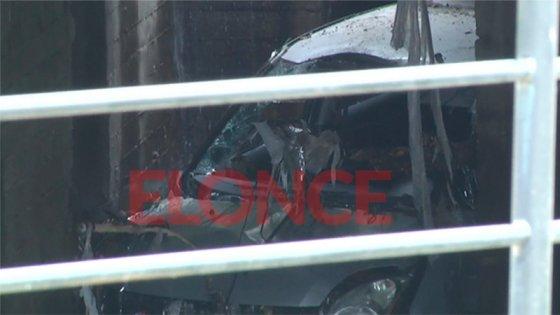 Video: Así quedó el auto de Fiorella tras caer al arroyo