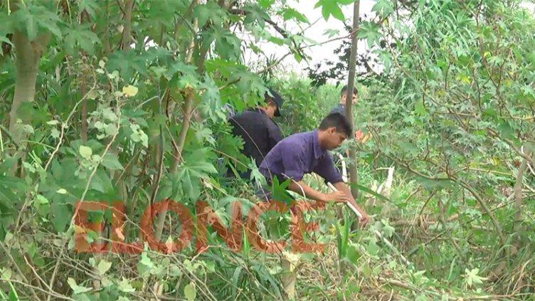 Buscan a Fiorella: Cadetes de la Policía rastrillan las inmediaciones del arroyo