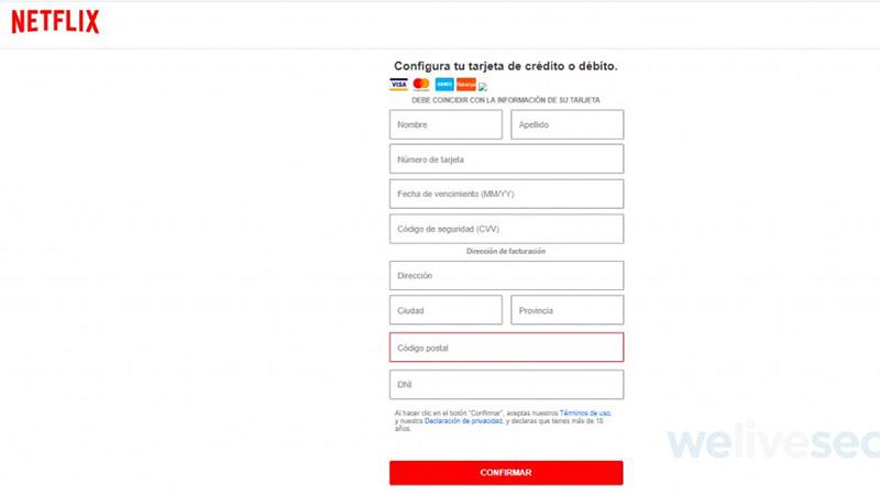 Suplantan identidad de Netflix para robar datos e información financiera